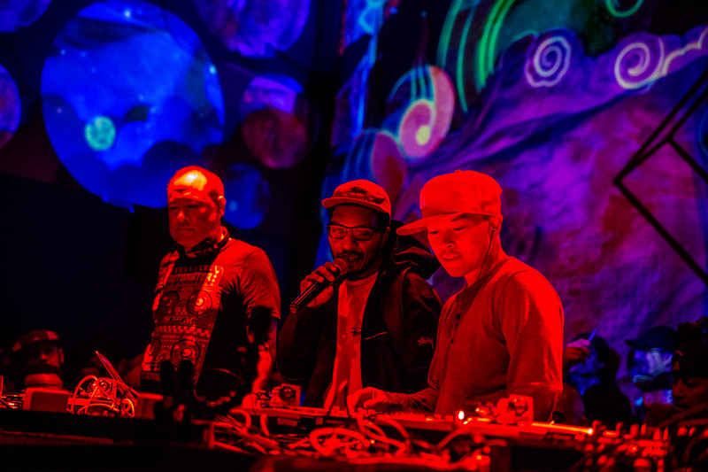 Dan the Automator, DJ Qbert, and Del the Funky Homosapien