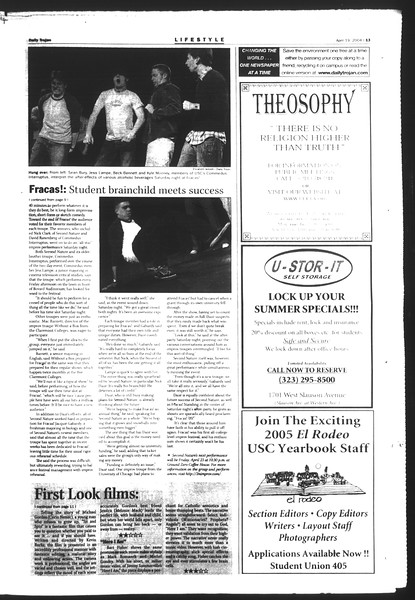 Daily Trojan, Vol. 151, No. 59, April 19, 2004