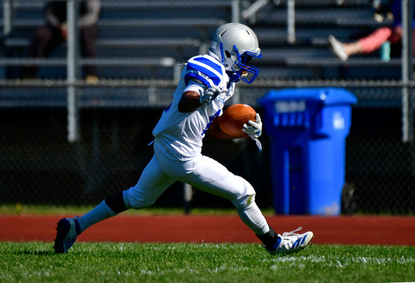 10/5/2019 Mike Orazzi | StaffrBristol Eastern's Daniel rTreyvon (6) during Saturday's football game with Hartford Public in Hartford.