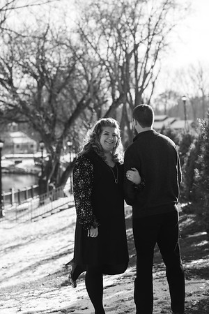 Coe Lake Winter engagement