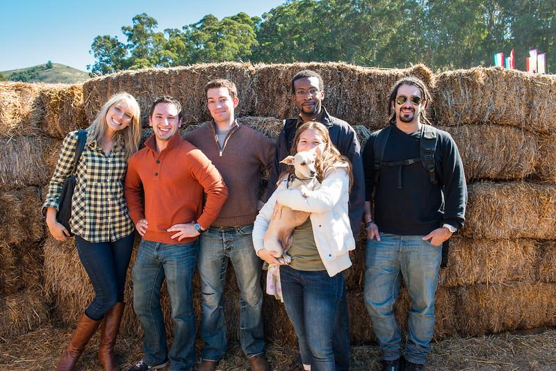 Group shot in the corn maze