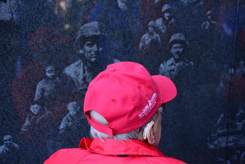 At the Korean Memorial Wall