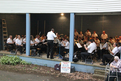 Cressona Band, East End Playground, Tamaqua (7-19-2012)