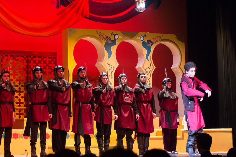 "The Wazir, Police, Wazir's Council  (""Was I Wazir"") -- Kismet, Montgomery Blair High School spring musical, April 15, 2016 performance (Silver Spring, MD)"