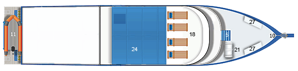 MV Similan Explorer Sun Deck Plan