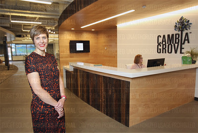 Nicole Bell of Cambia Health Solutions reveals Cambia Grove in Seattle, Washington