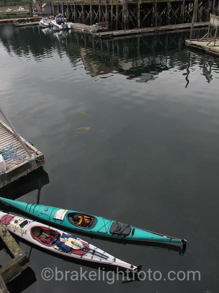 Kayaks in Winter Harbour