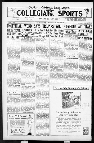Daily Trojan, Vol. 17, No. 119, April 08, 1926