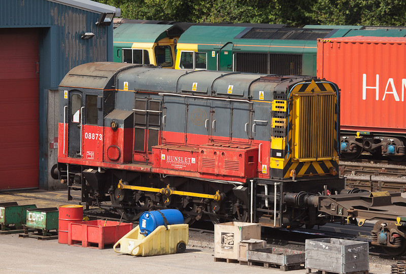 Hunslet 08873 in Freightliner TMD, Southampton Maritime.