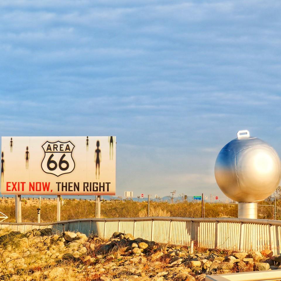 Area 66 Roadside Tourist Attraction Sign - Yucca, Arizona