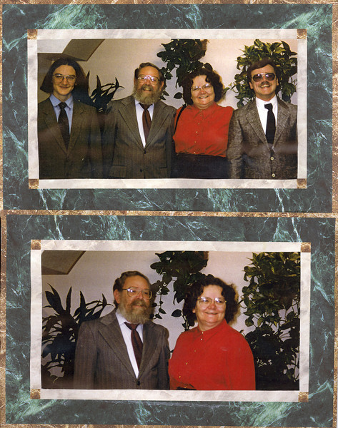 James, Bruce, Polly and JohnMom and Dad30 March 1996