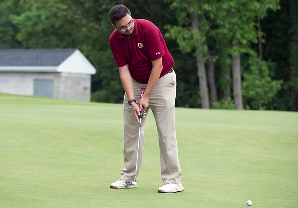 05/29/19 Wesley Bunnell | Staff New Britain golf competed along with Berlin and Goodwin Tech in the Stan Pisk Memorial Golf Tournament on Wednesday afternoon at Stanley Golf Course. New Britain's Arthur Bell.