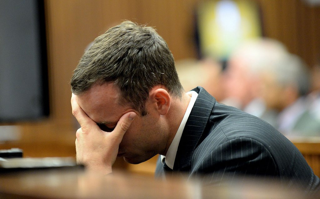 ". <p><b> �Blade Runner� Oscar Pistorius testified on Tuesday that, on the day she died, his slain girlfriend told him this for the first time � </b> <p> A. �I love you� <p> B. �I want to marry you� <p> C. �Please stop shooting me through the bathroom door� <p><b><a href=\'http://sports.yahoo.com/news/oscar-pistorius-trial-day-23--steenkamp-told-blade-runner--i-love-you--for-first-time-on-night-she-died-154200834.html\' target=""_blank\"">HUH?</a></b> <p>   (AP Photo/Bongiwe Mchunu)"