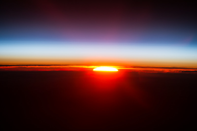 Day 127. Sunset returns! Perfect end. Thanks again for joining me today. Good night from @space_station! #YearInSpace
