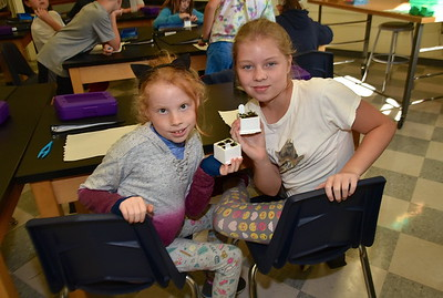 Fifth Grade Thins Wisconsin Fast Plants photos by Gary Baker