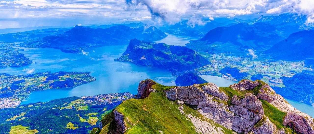 瑞士卢塞恩(Lucerne),登高看景