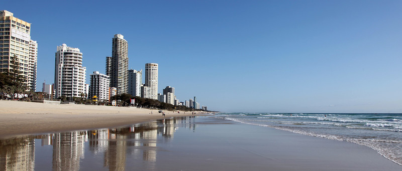 Surfers Paradise Beach Front Highrises November 9th 2013