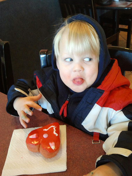A silly face to go with a silly faced donut!