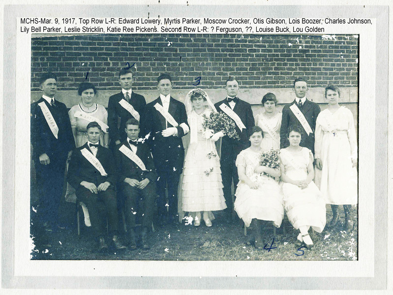 MCHS Class 3/9/1917.