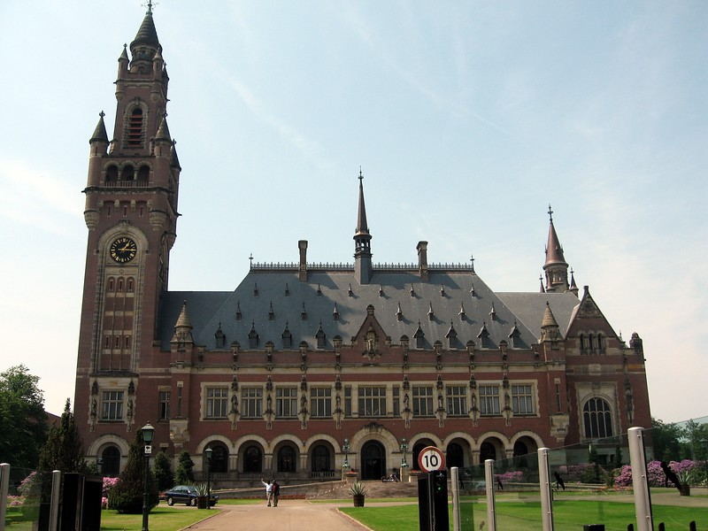 The Vredespaleis (Peace Palace), home of the International Court of Justice, the Permanent Court of Arbitration, the Hague Academy of International Law, and one of the world's largest international law libraries