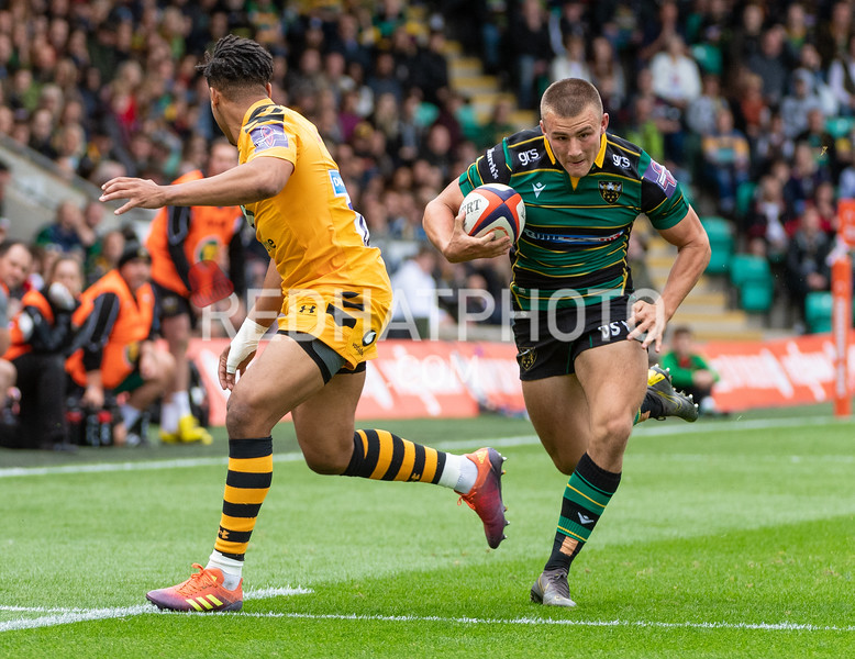 Northampton Saints vs Wasps, Premiership Rugby Cup, Franklin's Gardens, 28 September 2019