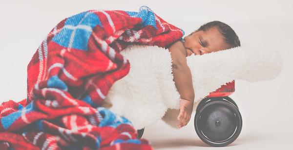Emmett Prince Newborn Shoot