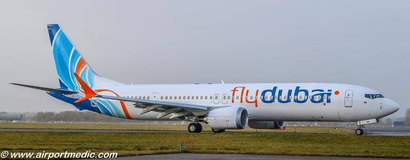 A6-FNB B737-8 MAX 9 flydubai @ Glasgow Airport (EGPF)
