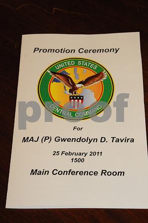 Gwen Tavira's Promotion Ceremony