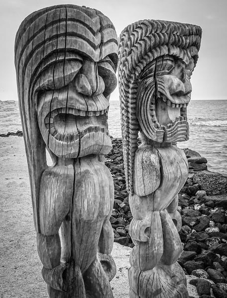 Ki'i at Pu'uhonua O Honaunau