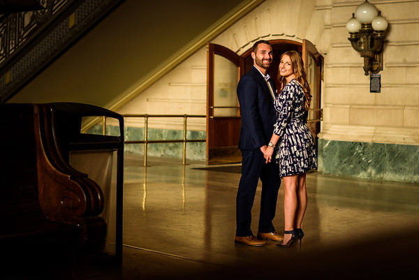 NNK - Amanda and Harry - Engagement - Hoboken Train Station (16 of 77)