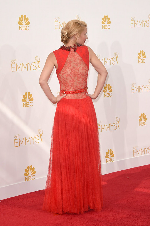 . Actress Claire Danes attends the 66th Annual Primetime Emmy Awards held at Nokia Theatre L.A. Live on August 25, 2014 in Los Angeles, California.  (Photo by Jason Merritt/Getty Images)