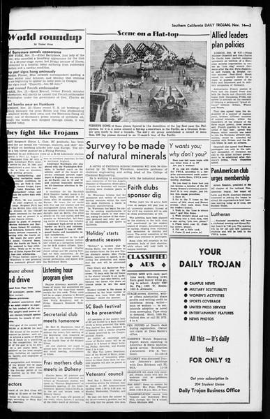 Daily Trojan, Vol. 36, No. 6, November 14, 1944