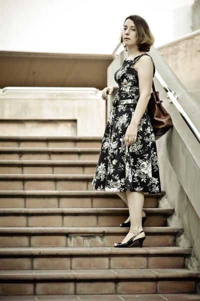 Vika at stairway