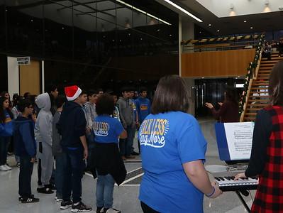 Choir singing at Admin