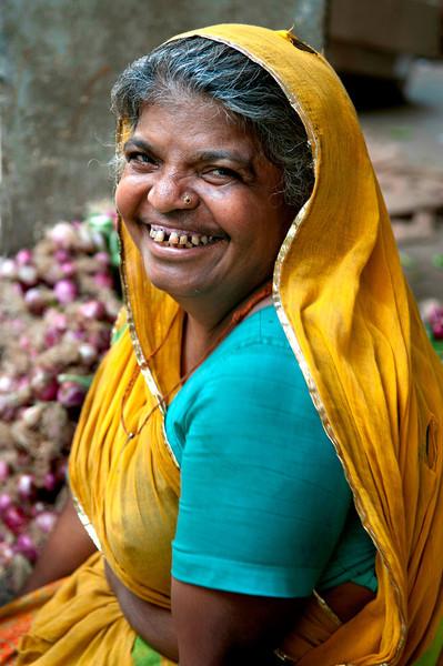 Indian, hindu market vendor.