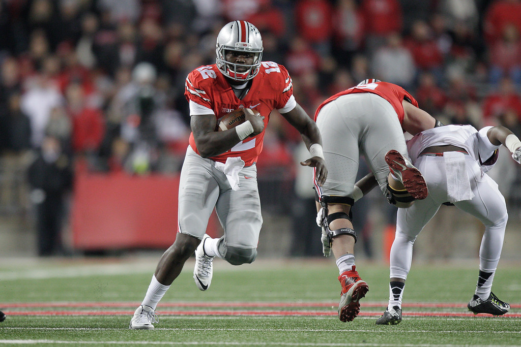 . Cardale Jones, Ohio State: After riding the bench most of his career, Jones took over as the Buckeyes� starter late in the 2014 season after J.T. Barrett was injured against Michigan. He led Ohio State to victories in the Big Ten title game and the College Football Playoff, where Ohio State won the national title. He began the 2015 season as a starter, but was up and down throughout and eventually gave way to Barrett. Pro career: Jones was drafted in the fourth round by Buffalo in 2016 and is now with the Los Angeles Chargers. (Associated Press file)