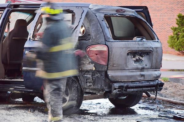 Car Fire Fitchburg