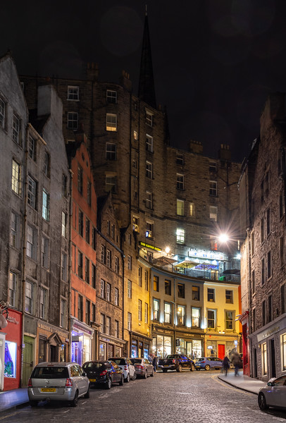 West Bow hill in Edinburgh