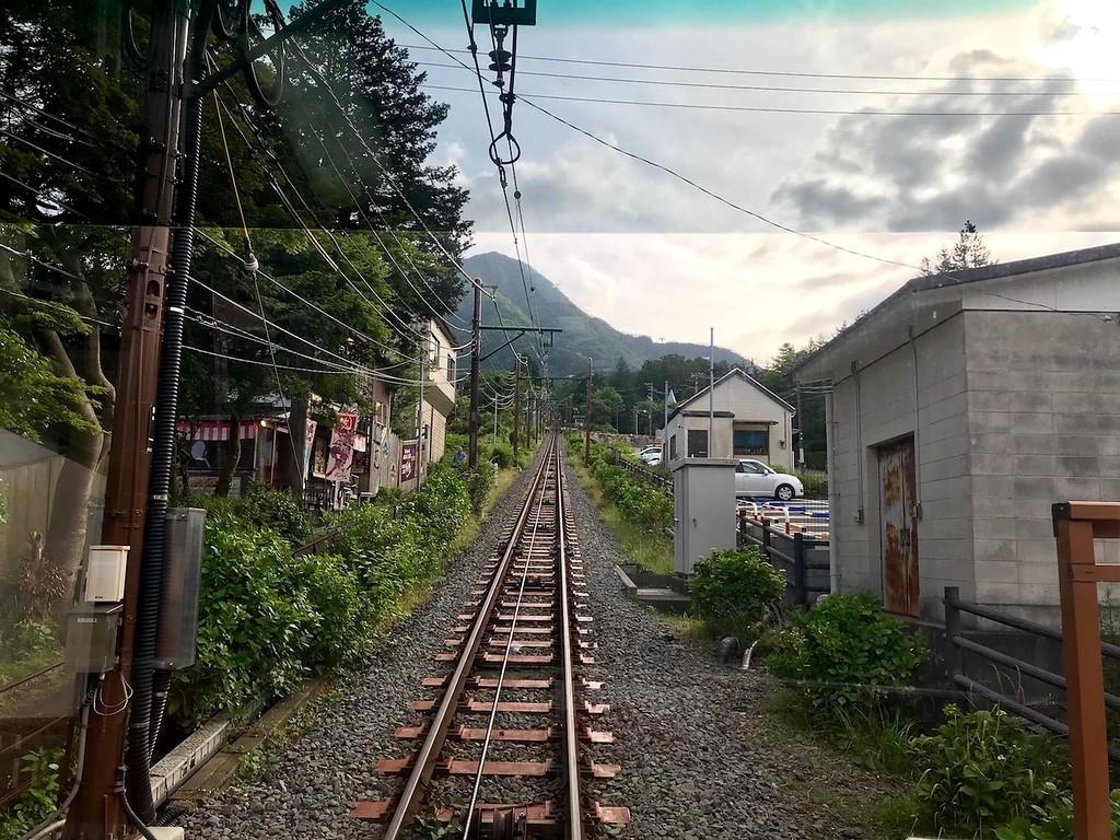 Along the funicular between Sounzan and Gora Station.