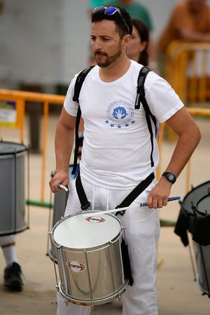 Drumming at Tos Nosotros  - Festa Major - Denia, Spain