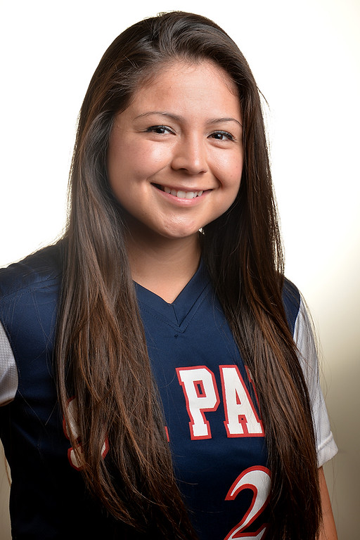 . Lovie Lopez from St. Paul High School was selected to the Whittier Daily News All-Area Softball team on Tuesday June 10, 2014. (Photo by Keith Durflinger/Whittier Daily News)