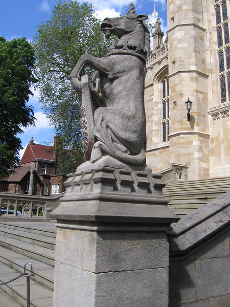 The steps to St. George's Chapel, Windsor Castle