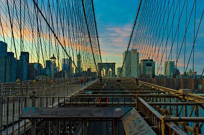A Pedestrian Approach 2 Brooklyn Bridge - Dusk