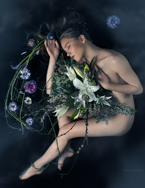 """Vanitas"" a collaboration by Aya of Flower Couture and photographer Sam Breach"