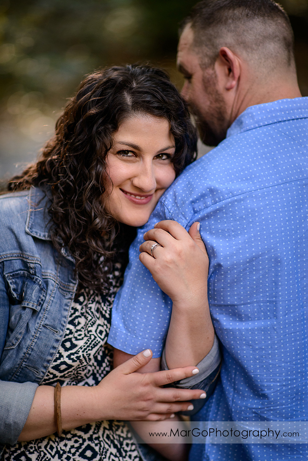 engaged couple at Sanborn County Park
