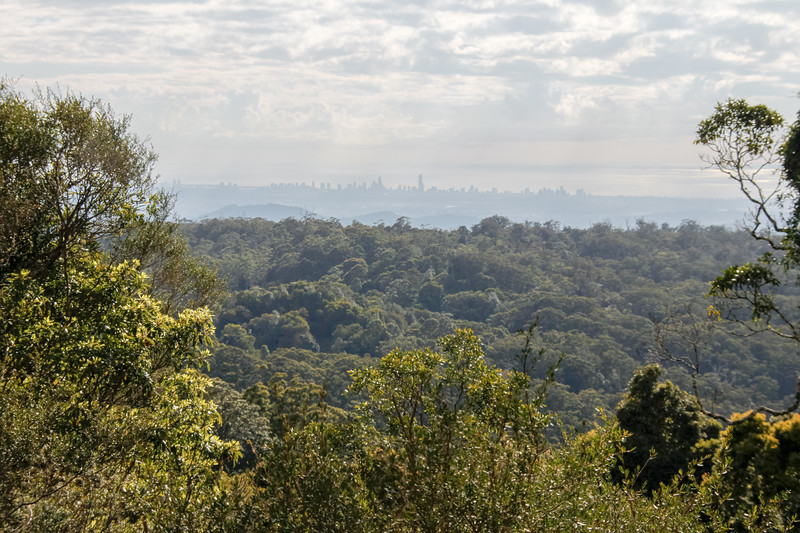 Brisbane, Australia as seen from the distant hills