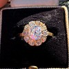 1.97ctw Antique Cluster Ring, GIA G SI2 0