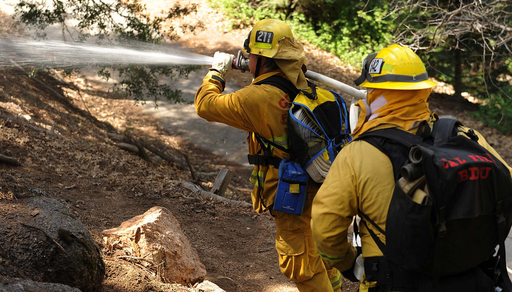 . Firefighters from around the San Bernardino valley and mountains are participating in the 27th annual wildland training exercises in Cedar Glen. During this annual event, local firefighters train together in a realistic environment, sharpening their skills, in preparation for the upcoming high fire hazard months of summer and fall, CalFire officials said in a press release. Firefighters across Southern California already have had to battle several recent blazes in dry and windy conditions.LaFonzo Carter/ Staff Photographer