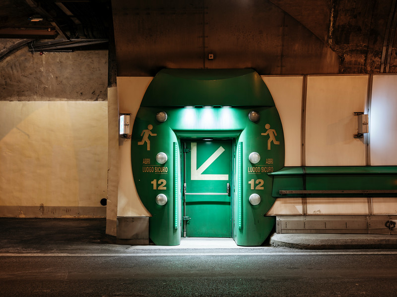 Door to the emergency shelter number 12 - Samuel Zeller for the New York Times