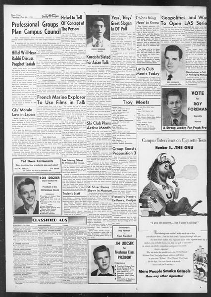 Daily Trojan, Vol. 42, No. 27, October 24, 1950